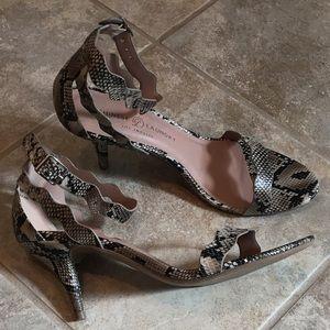 CHINESE LAUNDRY Snakeskin Print Ankle Strap Sandal